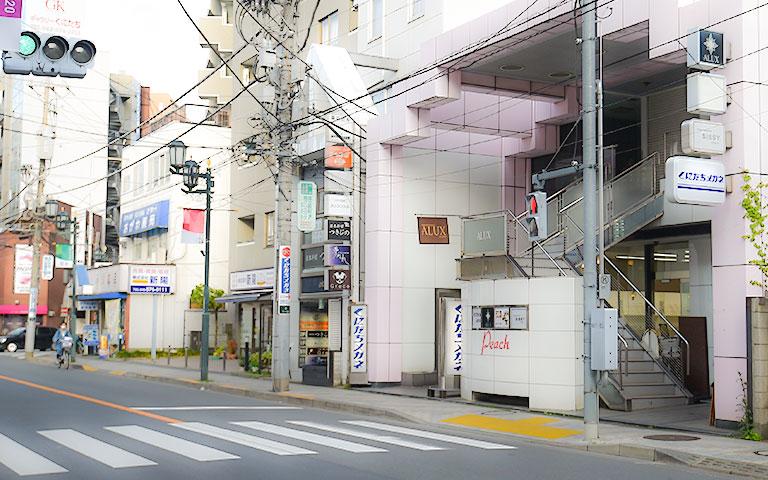 立川方面からの店舗写真